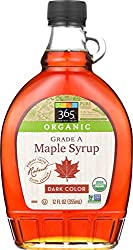 365 Everyday Value, Organic Pure 100% Grade A Maple Syrup, Dark Color Robust Taste, 12 Fl Oz (Packag