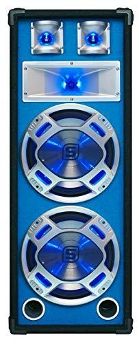 Skytec PA-Lautsprecher, passiv, einfach oder doppelt, für Partys Negro, Azul, Plata