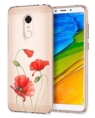 Compatible/Repuesto para Carcasa Xiaomi Redmi 5 Plus, Liquid Crystal Ultra Delgada Transparente TPU Silicona Protección Bumper Carcasa Suave Suave Suave Modelo para Xiaomi Redmi 5Plus