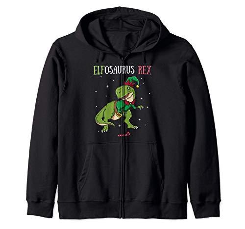 Elfosaorus T-Rex Elf Dinosaurier Elfen Weihnachten Dino Kapuzenjacke