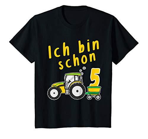 Kinder Ich bin 5 Jahre Geburtstags Traktor fünfter Geburtstag T-Shirt