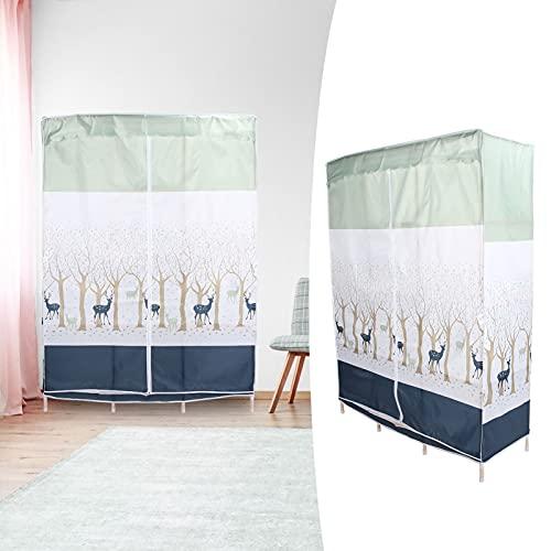 Klädgarderob, praktiskt trä + plast + tyg + metallkläder Förvaringsskåp Utrymmesbesparande för förvaring av kläder