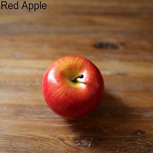ypypiaol Frutas Artificiales Decorativas Realistas Fake Apple Banana Pear Home Home Decor Beautiful Manzana roja