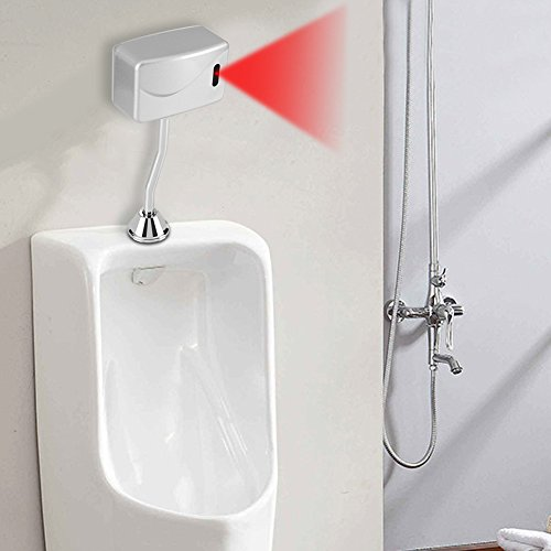 Urinal Flusher, Automatic, Infrared, Flushing Valve, Wall Mounted, Automatic Sensor, Flush Valves, DC 6V, for Bathroom…