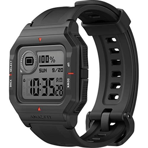 Amazfit Neo Reloj Smartwatch Deportivo | 28-37 Días Batería | 3 Modos Deportivos | Sensor Seguimiento Biológico | Frecuencia Cardíaca | Bluetooth 5.0 BLE (iOS & Android) Negro