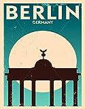 TTMMBB - Cartel de metal retro grande de Berlín (ideal para cafetería, restaurante, sala de billar, hotel, club, decoración de pared, 30,5 x 20,3 cm)