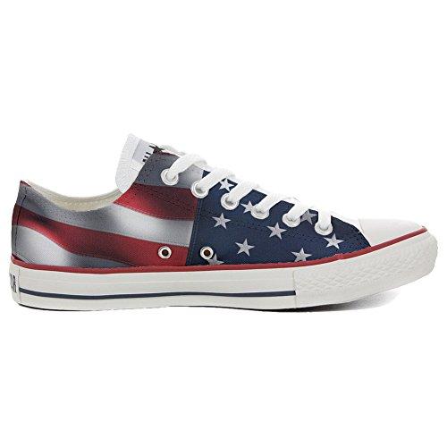Original Zapatos Personalizados (Producto Handmade) Bandera USA - TG40