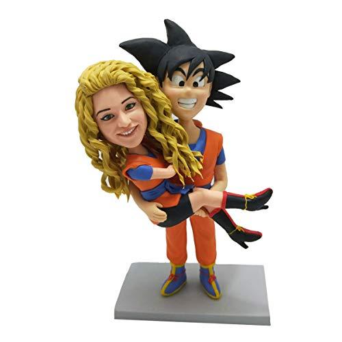 Monkey King Wukong hält die Mädchenfigur Actionfigur Charakter handgefertigte Skulptur Colletible Figuren Tonfiguren Skulptur