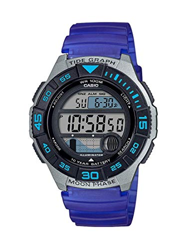 Casio Men's 10 Year Battery Quartz Resin Strap, Blue, 22.8 Casual Watch (Model: WS-1100H-2AVCF)