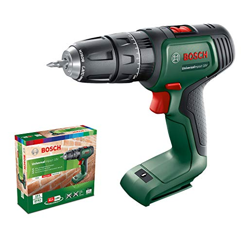 Bosch Home and Garden 06039D4100 Bosch Cordless Hammer Drill UniversalImpact 18 (without battery, 18 Volt System, in cardboard box)