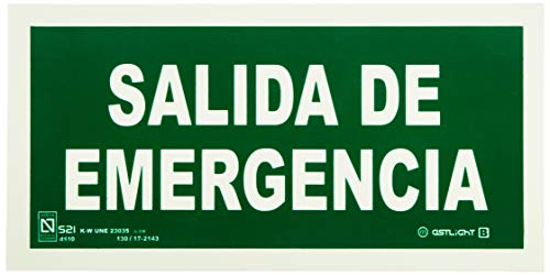 Astlight SAL5455.7FAD Señal de salida de emergencia fotoluminiscente, Multicolor
