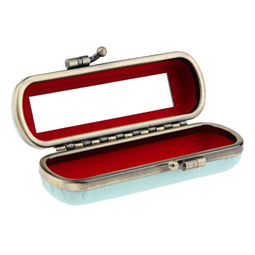 Langlebig Leder Lippenstift Fall Inhaber Mit Spiegel Und Clip Botton Lippenstift Box Organizer...