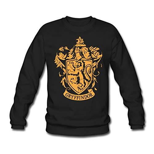 Harry Potter Gryffindor Wappen Logo Unisex Pullover, S, Schwarz