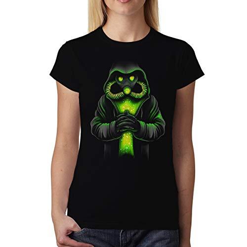 avocadoWEAR Coronavirus Maschera Antigas Covid-19 Donna T-Shirt Nero 3XL