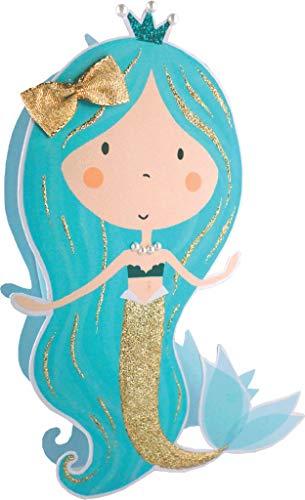 Paper Dazzle Mermaid Happy Birthday 3D Birthday Greeting Card Glitter Finished PDZ020