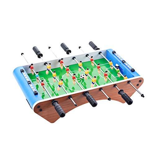 Hinder Mesa de futbolín para multijugador, mini juego de fútbol de mesa de madera, 20 pulgadas portátil recreativo de mano de fútbol de mesa de competición juegos de deportes para niños y adultos