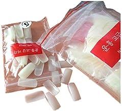 500 قطعة/حقيبة اظافر راقصة الباليه الشفافة/اظافر التابوت الصناعية المقلمة ذات شكل مسطح، اظافر اصطناعية.