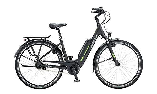 """KTM Macina Central 5 Bosch Elektro Fahrrad 2020 (28\"""" Einrohr 46cm, Black Matt/Grey/Green)"""