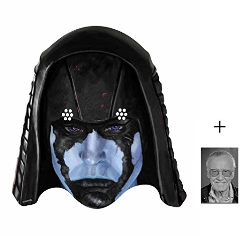 BundleZ-4-FanZ Fan Packs Ronan The Accuser Marvel Guardians of The Galaxy Single Karte / Pappe Partei Maske Enthält 6X4 (15X10Cm) starfoto