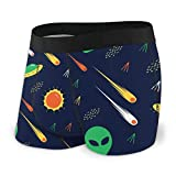 Vbnbvn Calzoncillos Bóxers Slips, Men's Boxer Brief UFO Alien Protection Brief/Shorts/Ropa Interior Lightweight