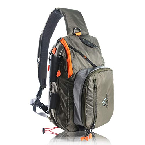 Maxcatch Fly Fishing Sling Pack Adjustable Size...
