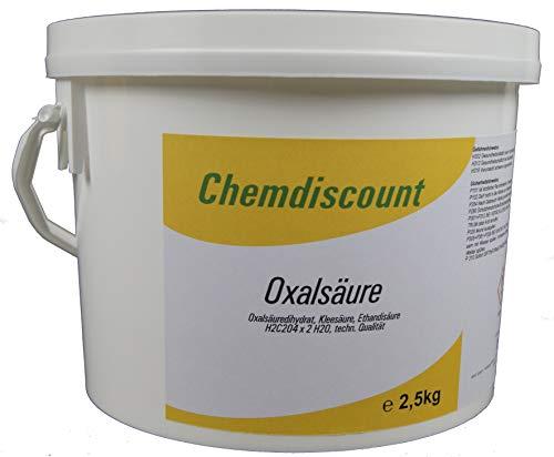 2,5kg Oxalsäure Pulver (Kleesalz, Ethandisäure), min 99,6%, versandkostenfrei