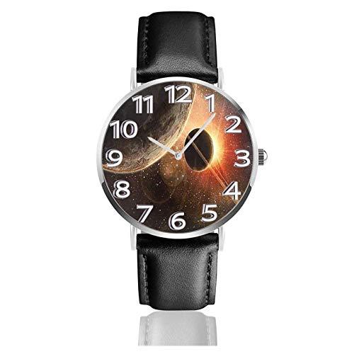 Orologio da polso The Cosmos Galaxy Moon Resistente cinturino in pelle PU Orologi da lavoro al quarzo Orologio da polso casual unisex