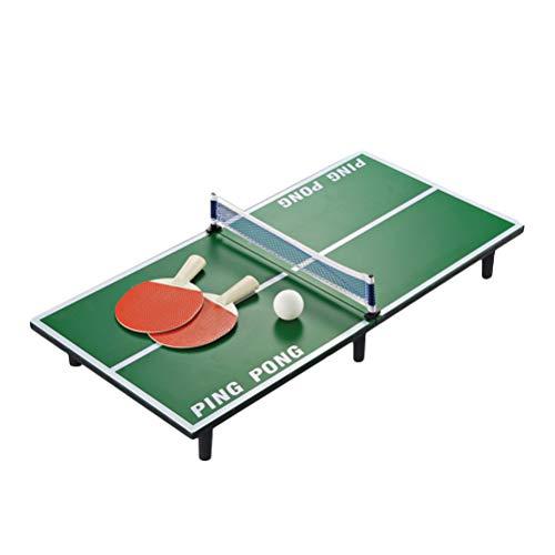 LIOOBO Mesa de Ping Pong Mesa de Ping Pong Juego de Pelota de béisbol Mini Juego de Mesa portátil para niños Educación temprana 1 Juego