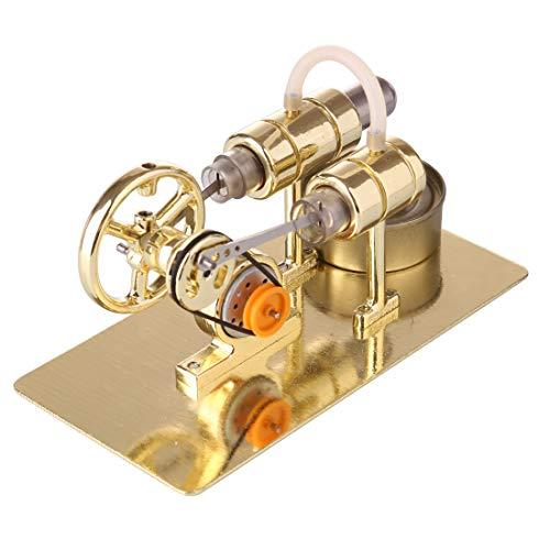PeleusTech Stirling Engine Model DIY Stirling Engine Kit Unassembled Stirling Engine Generator for Teaching, Gift, Desk Toy