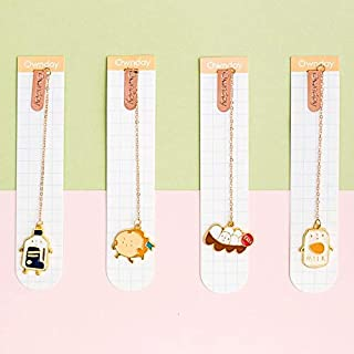 1 Pcs Bookmark Cartoon Pottering Cat Book Mark Book Markers Kawaii Kittens Metal Bookmark Book School Office Supplies Stationery Color/Size :