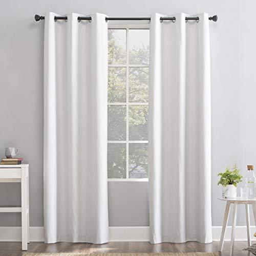 "Sun Zero Cyrus Thermal 100% Blackout Grommet Curtain Panel, 40"" x 84"", White"
