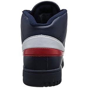 Fila Men's f-13v lea/syn Fashion Sneaker, Navy/White Red, 12 M US