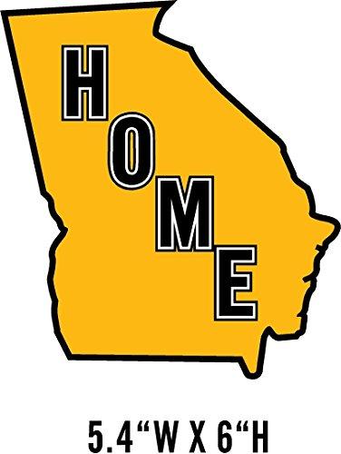 Georgia Yellow Black Home State Pride Window Decal Sticker NRA NWTF