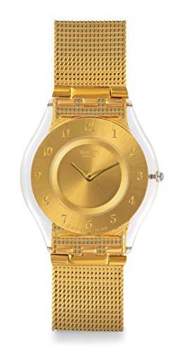 Swatch Reloj Digital para Mujer de Cuarzo con Correa en Acero Inoxidable SFK355M