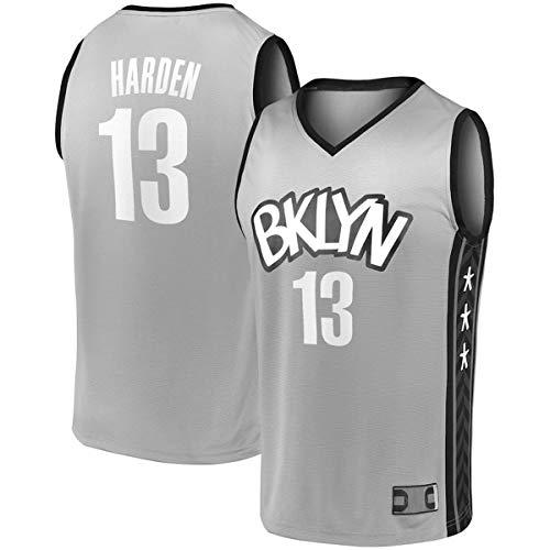 FTING Chalecos de baloncesto para hombre James Brooklyn NO.13 Nets Harden 2020/21 Fast Break Jersey Carbón - Declaración Edición