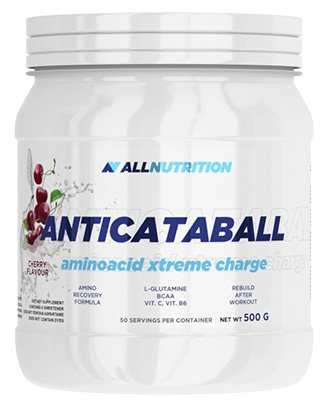 ALLNUTRITION Anticataball Aminoacid Xtreme Charge Amnios BCAA Muscle Strength Body Building 500g (Cherry - Cherry)