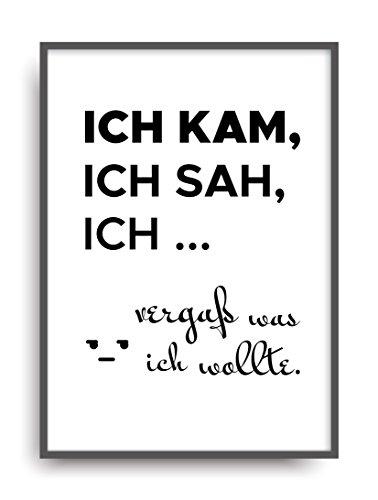 Kunstdruck Fine Art KAM SAH VERGAß Geschenk Moderne Vintage Poster Print Plakat Deko Bild ungerahmt DIN A4