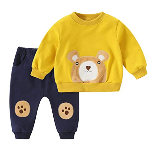 1-5 Años,SO-buts Recién Nacido Infantil Bebé Niños Oso Camiseta Tops Sudadera Pantalones Casual Chándal Otoño Invierno Conjunto Trajes