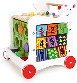 Small Foot Wooden Toys Wooden Baby Bear Walker