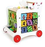 small foot 7393 Lauflernwagen 'Bär' aus Holz, 5-seitiger Spielspaß, zur Förderung motorischer...