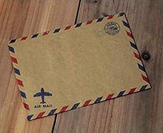 Kraft Air Mail envelopes, white wedding envelopes,Brown Paper Envelope,Invitation envelopes, vintage airmail packing 50pcs...