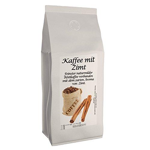 Aromakaffee - aromatisierter Kaffee Zimt, 1000 g ganze Bohne - Spitzenkaffee - Schonend Und Frisch In Eigener Rösterei Geröstet