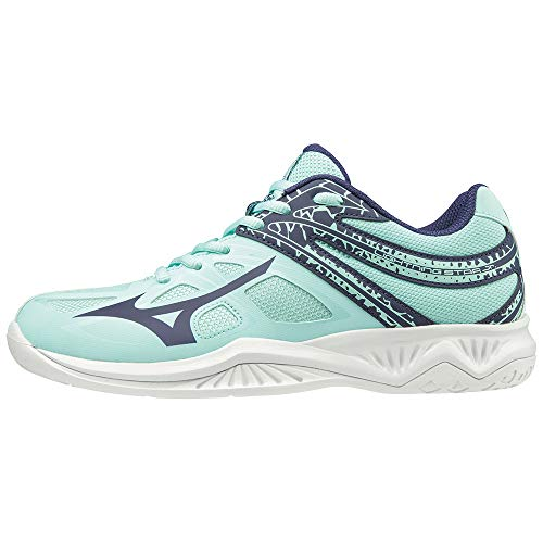 Mizuno Lightning Star Z5 Jr, Zapatillas de Voleibol, Unisex niños, Azul (Blue Light/Astral Aura/White 28), 38 EU