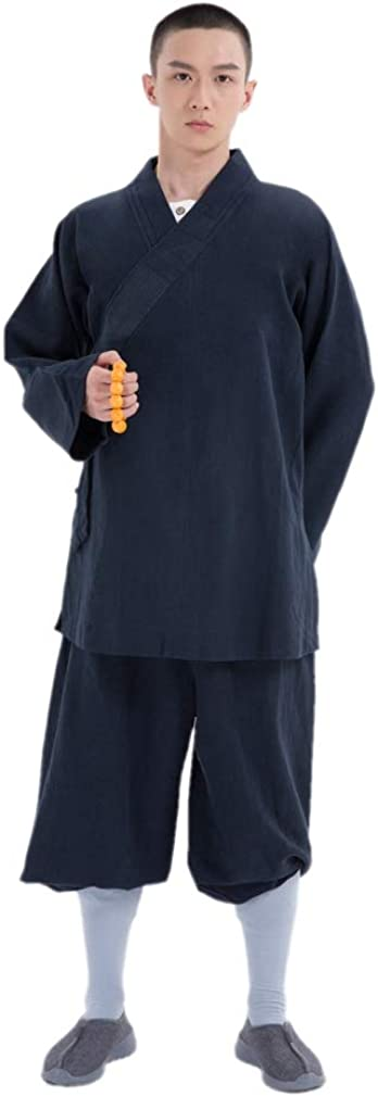 DGXIN Unisex Traditional Buddhist Arhat Casual Suit