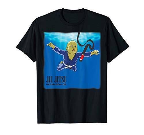 BJJ T-shirt - Never give up, you'll get BJJ black belt T-Shirt
