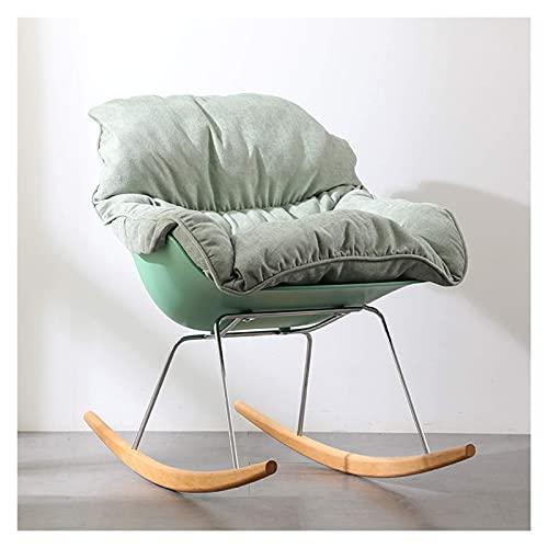 KUYH Silla mecedora de la sala de estar, silla simple de la tela individual, silla del sofá perezoso, silla mecedora del balcón de la sala de estar