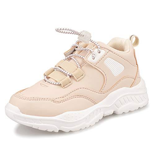 Zapatillas de deporte para niña, zapatillas de deporte para adolescentes, color Rosa, talla 34 EU