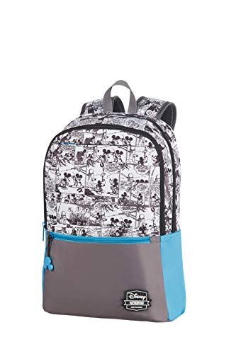 American Tourister Urban Groove Disney - Backpack Medium - Rucksack, 40 cm, 16.0 Liter, Mickey Comics Blue