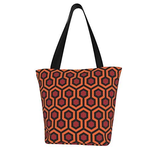 Sac fourre-tout en toile personnalisé, motif tapis brillant, lavable, sac à main, sac à bandoulière, sac de courses pour femme