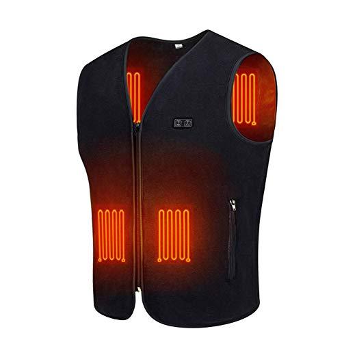 Chaleco calefactor eléctrico para mujeres y hombres, Calefacción de ropa Chaleco de carga USB calentador de cuerpo eléctrico con 3 temperaturas para motocicleta, al aire libre, caza, camping